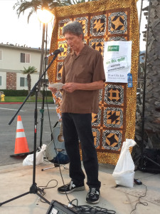 City Council Member and former Mayor of Carpinteria Al Clark welcomes the group.