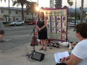 Alice Glenhorn at Candlelight Vigil